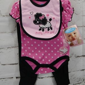 Infant 3 pc. bodysuit